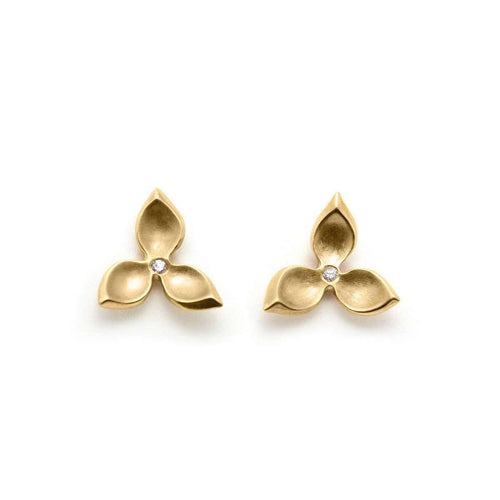 Hanna Three Petal Studs ,[product vendor],JewelStreet EU