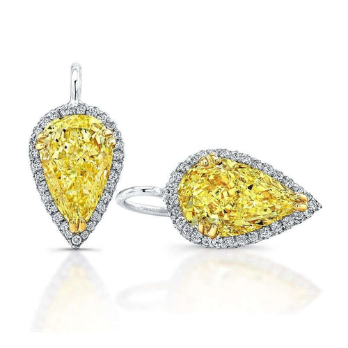 Fancy Yellow Pear Shape Sunny Drop Earrings ,[product vendor],JewelStreet EU