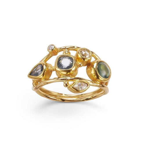 Double Seafire Ring ,[product vendor],JewelStreet