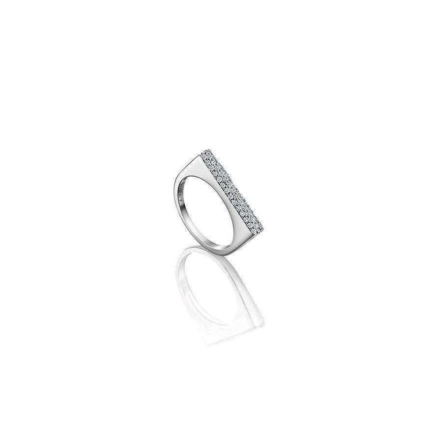 18kt White Gold Diamond Ring-Soley London-JewelStreet EU
