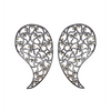 Jaali Ruthenium & Yellow Cubic Zirconia Paisley Earrings-Sonal Bhaskaran-JewelStreet EU