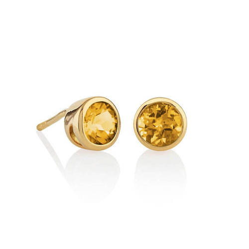 Juliet Gold Citrine Earrings
