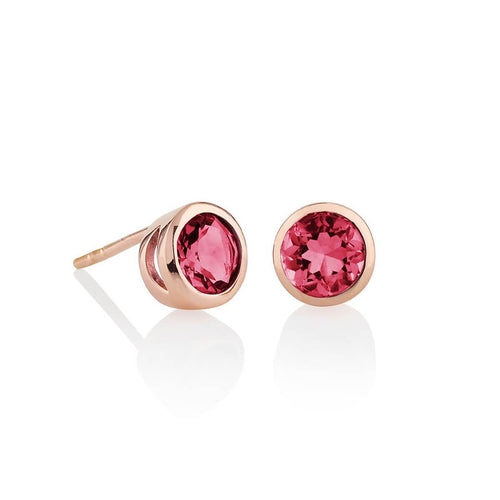Juliet Rose Gold Rhodolite Earrings