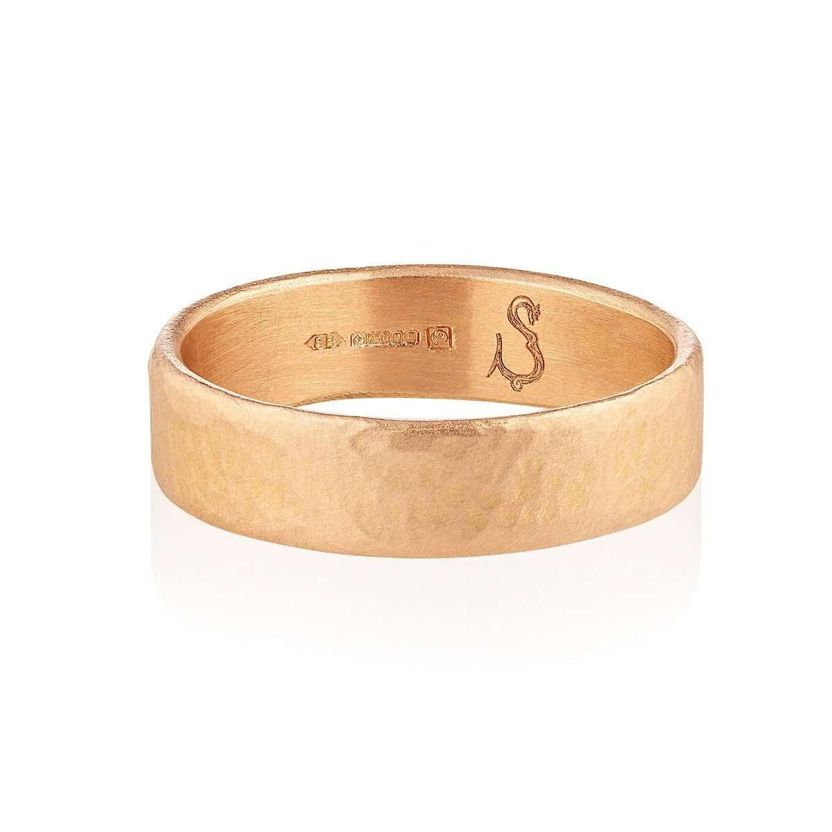 18kt Fairtrade Mars Wedding Band-Shakti Ellenwood-JewelStreet EU