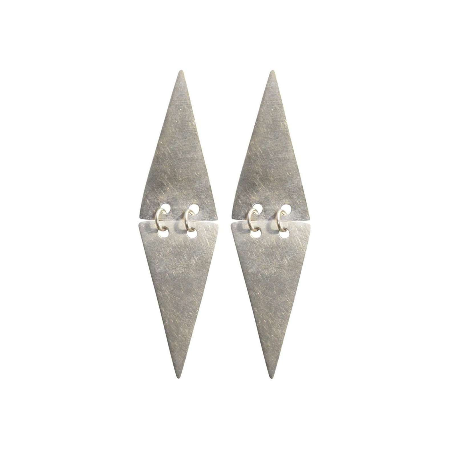 Mei-li Rose Triangle Drop Earrings EfPDq8