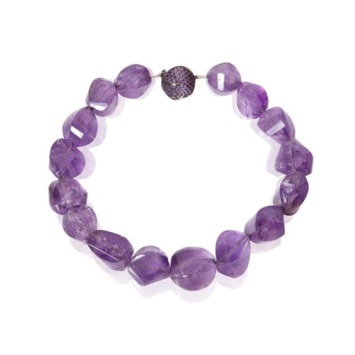Amethyst & Purple Bead Necklace 18kt Black Gold-Mara Hotung-JewelStreet EU