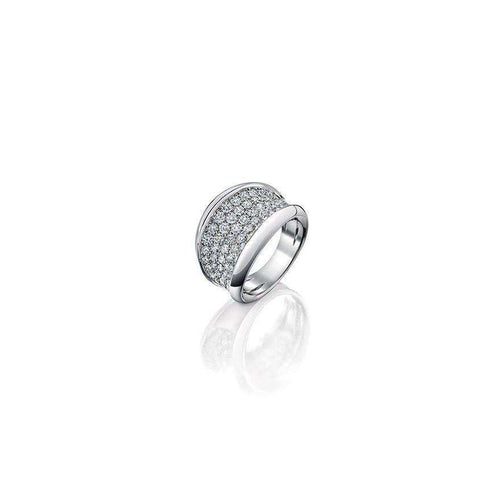 18kt White Gold Moonscape Diamond Ring-Soley London-JewelStreet EU