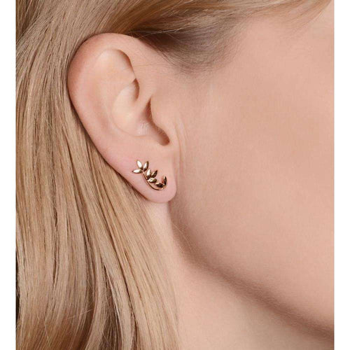 18kt Gold Ear Cuff Petal Right-Perle de Lune-JewelStreet EU