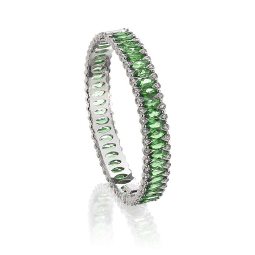 Amore Tsavorite Bangle-Niquesa Fine Jewellery-JewelStreet EU