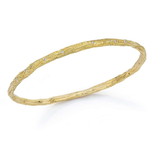 Banyan Tree Bangle 18kt Gold With Diamonds-LJD Designs-JewelStreet EU