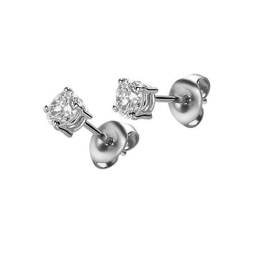 Platinum & Diamond Essentials Studs | Van der Veken