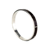 Sterling Silver & Patent Leather Riveted Bangle