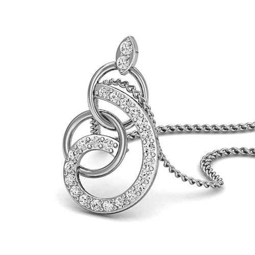 10kt White Gold and Diamonds Nature Inspired Luxe Pave Earrings-Diamoire Jewels-JewelStreet EU