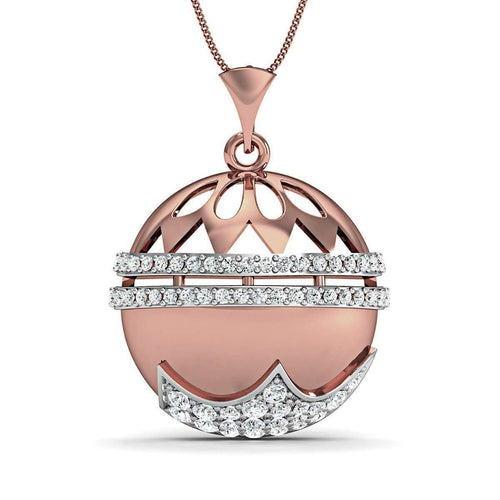 18kt Rose Gold with Premium Diamonds in Pave Setting-Diamoire Jewels-JewelStreet EU