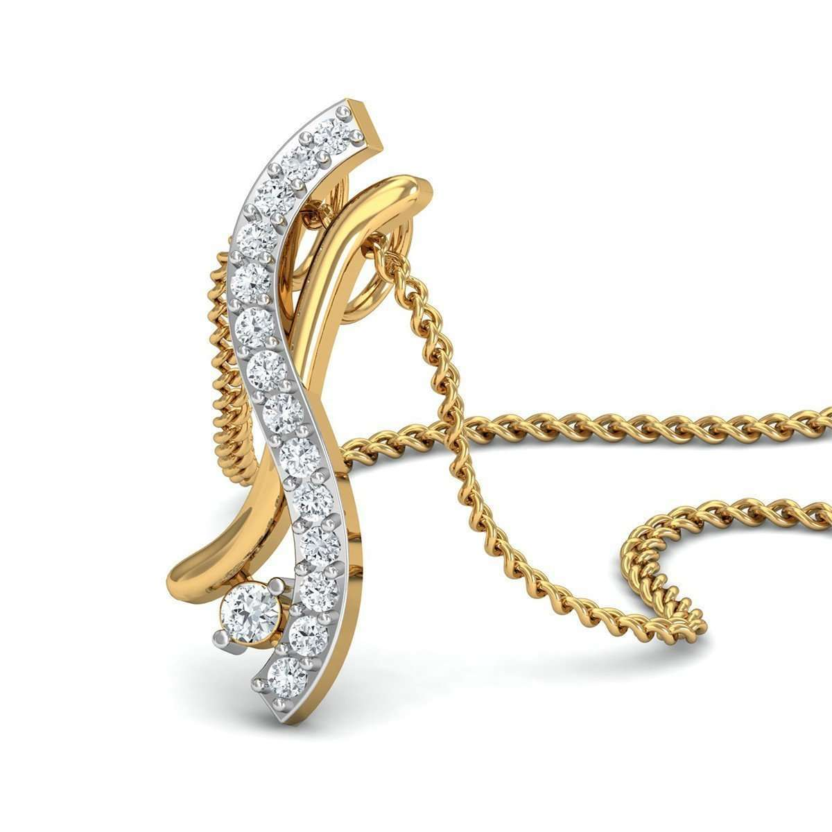 Excellent Cut Diamonds and 10kt Yellow Gold in a Pave Setting-Diamoire Jewels-JewelStreet EU