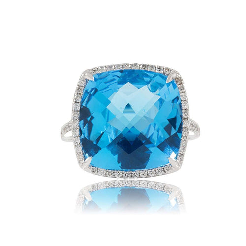 Stella London Blue Cocktail Ring ,[product vendor],JewelStreet EU