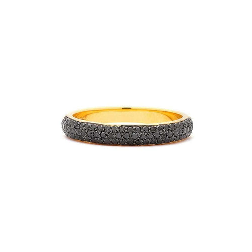 18kt Black Diamond Pave Band-Syna-JewelStreet EU