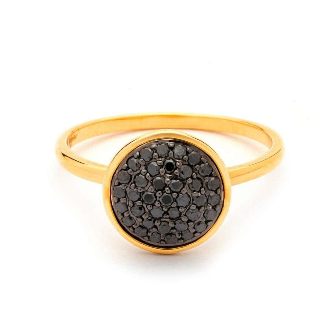 Syna 18kt Mini Black Diamond Ring - UK N - US 6 1/2 - EU 54 0YsEADpP