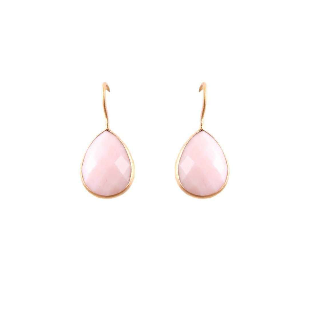 Pink Opal Raindrop Earrings-Willow and Clo-JewelStreet EU
