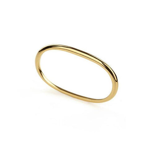 18kt Yellow Gold Vermeil Pure Double Ring ,[product vendor],JewelStreet