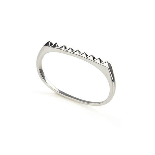 Sterling Silver Pure Pyramid Double Ring ,[product vendor],JewelStreet