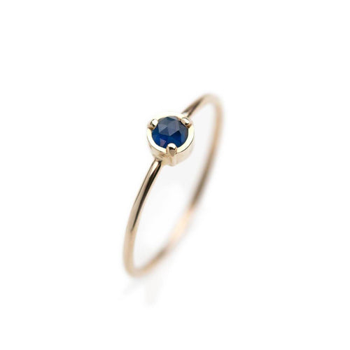 14kt Yellow Gold Wonder Ring With Blue Sapphire