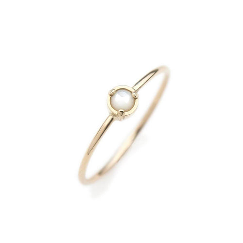 14kt Yellow Gold Wonder Ring With Mother Of Pearl
