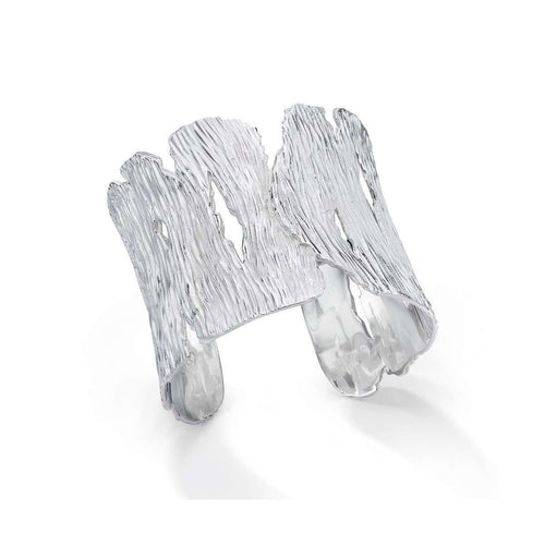 Sterling Silver Seagrass Cuff ,[product vendor],JewelStreet EU