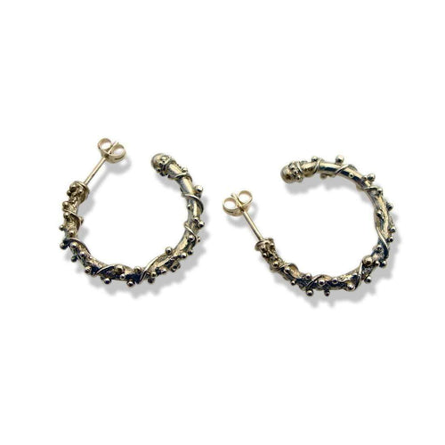 9kt Gold Encrusted Hoop Earrings-Zalisander-JewelStreet EU