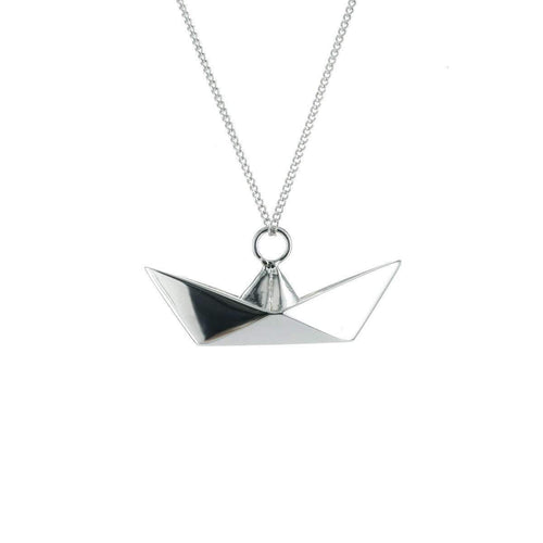 Boat Silver Necklace