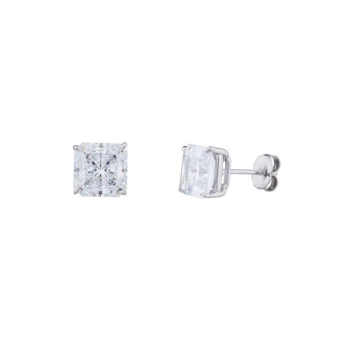 14kt White Gold 1.5ct Princess Stud Earrings ,[product vendor],JewelStreet