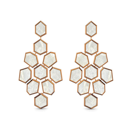 Rose Gold & Mother Of Pearl Earrings ,[product vendor],JewelStreet