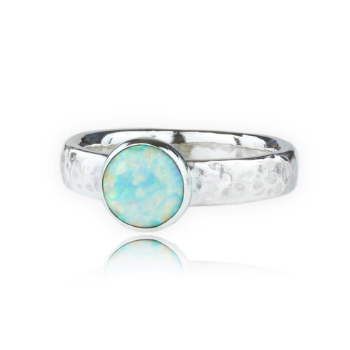Sterling Silver White Opal Ring ,[product vendor],JewelStreet