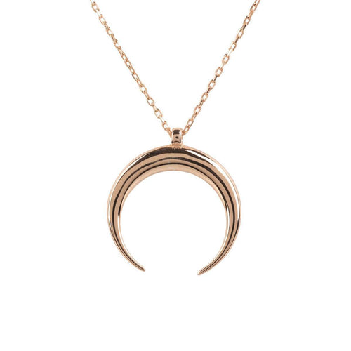 Rose Gold Plated Silver Cosmic Horn Tusk Necklace ,[product vendor],JewelStreet