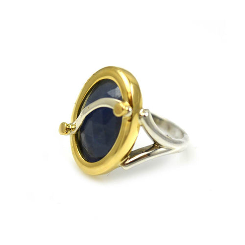 Ring Oval Blue-Grey Colour Change Sapphire - 9ctw ,[product vendor],JewelStreet