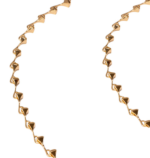 Yellow Gold Plated Sterling Silver Amazon Long Vermeil Necklace ,[product vendor],JewelStreet