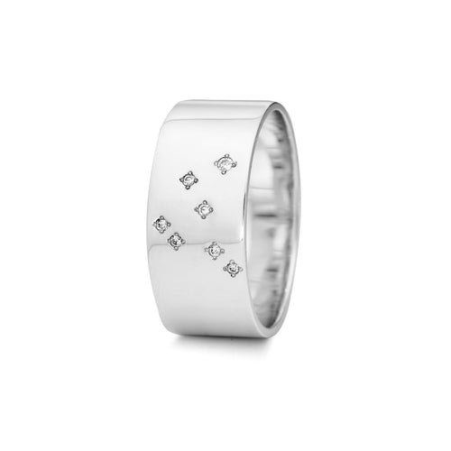 Sterling Silver Capricorn Zodiac Constellation Ring ,[product vendor],JewelStreet