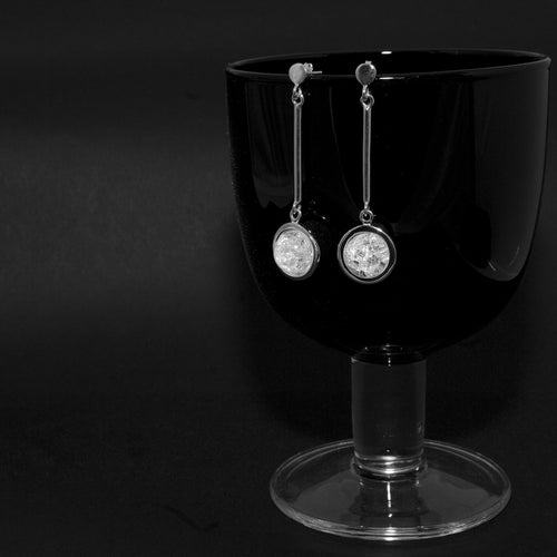 Sterling Silver Earrings Ice Stright ,[product vendor],JewelStreet