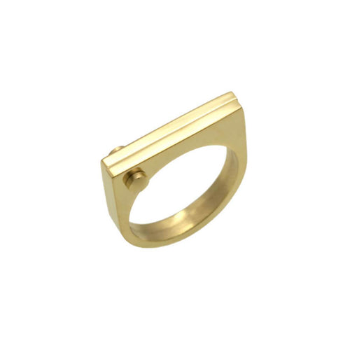 Gold D Ring ,[product vendor],JewelStreet