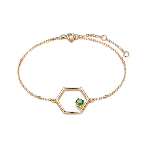 Gold Vermeil Linear Bracelet With Diopside ,[product vendor],JewelStreet