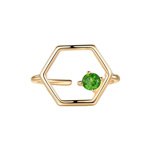 Gold Vermeil Linear Ring With Diopside ,[product vendor],JewelStreet