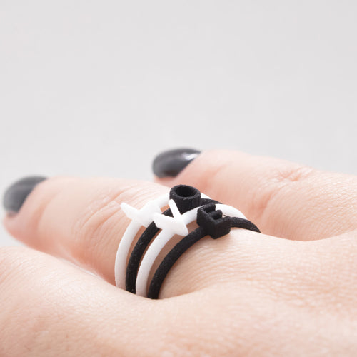 Minimal Customized Letter rings ,[product vendor],JewelStreet