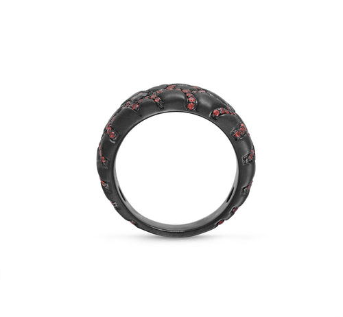 Fiery Ascent Garnets Textured Band Ring ,[product vendor],JewelStreet