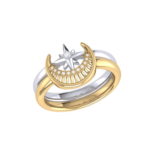 Two-Tone Nighttime Lovers Detachable Ring ,[product vendor],JewelStreet