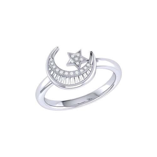 Starkissed Crescent Ring in Sterling Silver ,[product vendor],JewelStreet