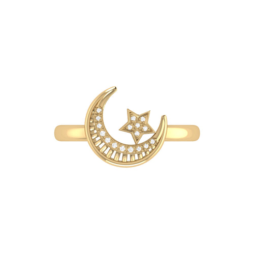 14kt Yellow Gold Plated Starkissed Crescent Ring ,[product vendor],JewelStreet