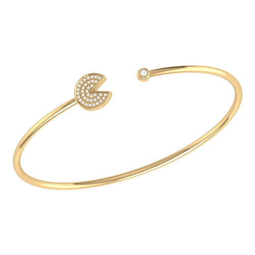 14kt Yellow Gold Plated Pac-Man Candy Cuff ,[product vendor],JewelStreet