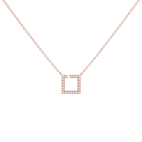 14kt Rose Gold Plated Street Light Necklace ,[product vendor],JewelStreet