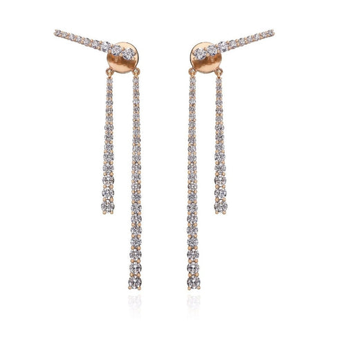 18kt Rose Gold Mode Earrings VII ,[product vendor],JewelStreet