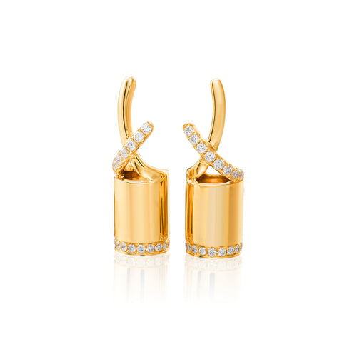 18kt Yellow Gold Armor Earrings I ,[product vendor],JewelStreet